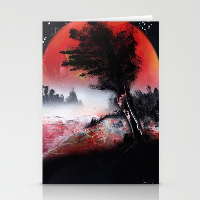 A TREE SUNSET Stationery Cards
