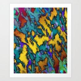 The sliding glass 3 Art Print