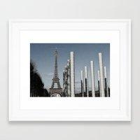 eiffel tower Framed Art Prints featuring Eiffel Tower by Sébastien BOUVIER