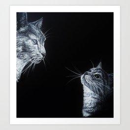 Tom and Kit Art Print
