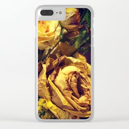 Dead Roses Clear iPhone Case