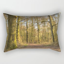 The Forest Path in Springtime Rectangular Pillow