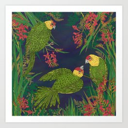 Parakeet Paradise Art Print