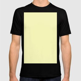 Very pale yellow T-shirt