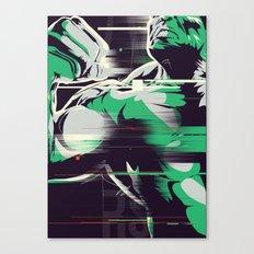 Glitch Hulk Canvas Print