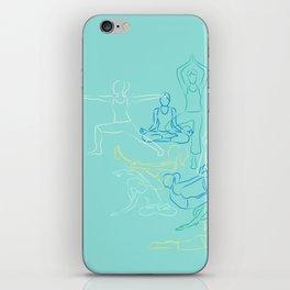 Turquoise Yoga iPhone Skin