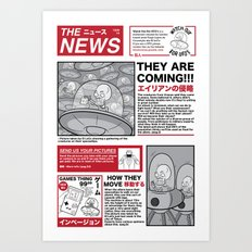 The News Art Print