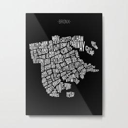 The Bronx, Black Metal Print