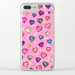 Lovely and Cute D pink Clear iPhone Case