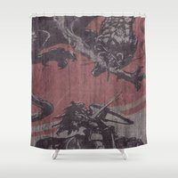 fight Shower Curtains featuring Fight by Last Call
