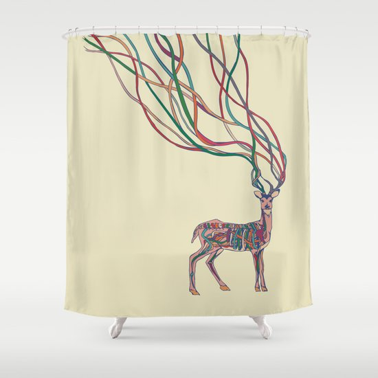 Deer Ribbons Shower Curtain