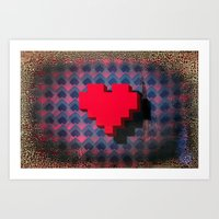 the curse of the floating heart. Art Print