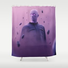 Skip Tracer Shower Curtain