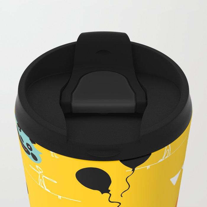 Acrobat yellow Travel Mug