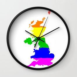 United Kingdom Gay Pride Flag Wall Clock