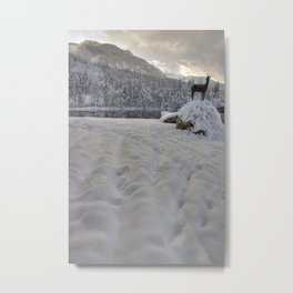 Snowy alpine lake Metal Print
