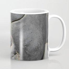 Gentle Buddha Face Stone Sculpture Coffee Mug