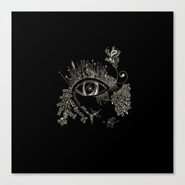 The eye watching you Canvas Print