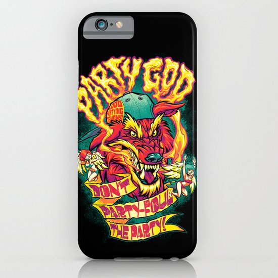PARTY GOD (red) iPhone & iPod Case