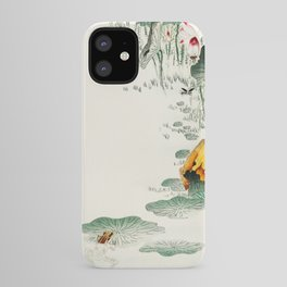 Frog in the swamp  - Vintage Japanese Woodblock Print Art iPhone Case