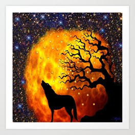 WOLF ENCOUNTER #1 Art Print