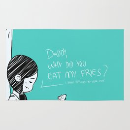 Daddy, why did you eat my fries? Rug
