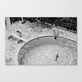 girls in pool 2, san juan, puerto rico, 2010 Canvas Print