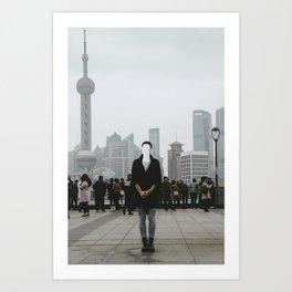 No face in Shanghai Art Print