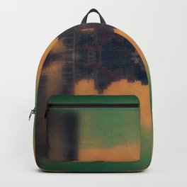 Mirrored City Triptych Left Backpack