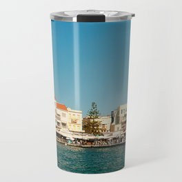 Chania Harbor Travel Mug