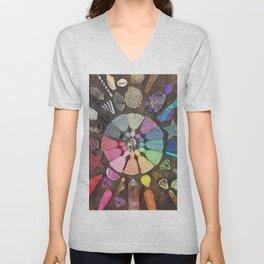 Rainbow Tassel Creative Inspiration Unisex V-Neck