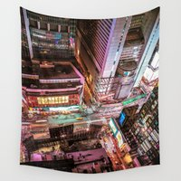nyc Wall Tapestries featuring NYC  by Vivienne Gucwa