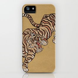 Tiger in Asian Style iPhone Case