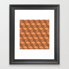 Sand Cubes Framed Art Print