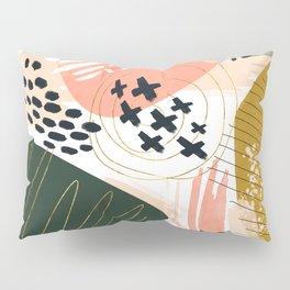 Brushstrokes abstract art III Pillow Sham