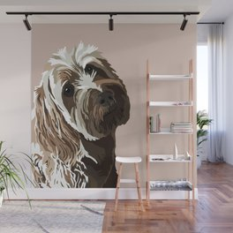 Scribbles (AKA Bibby) the Golden Doodle Wall Mural