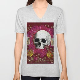 skull crowns Unisex V-Neck