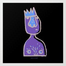 Am i really the king? Art Print