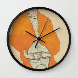 Egon Schiele Standing Man Figure Wall Clock