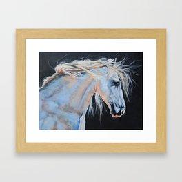 White horse, Horse, Canvas Print, Horse Painting, White Horse Art, Horse, Art, Equestrian Art, Horse Framed Art Print