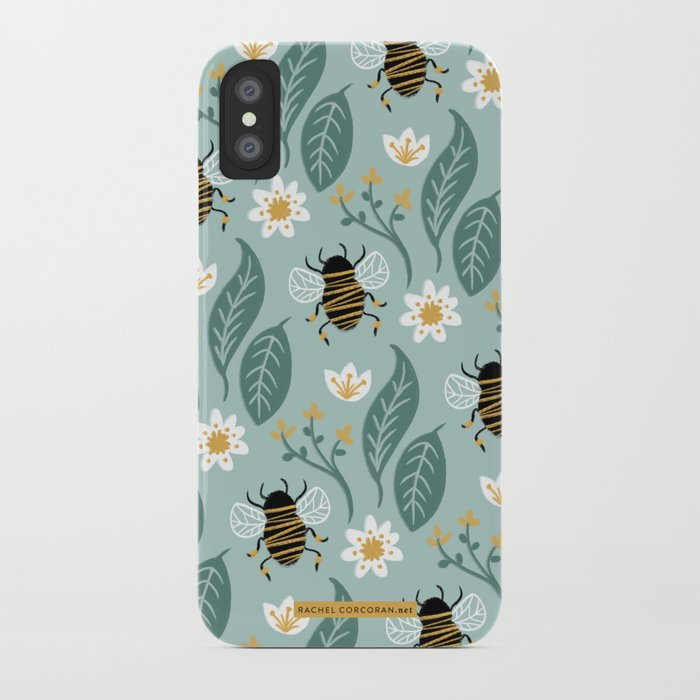 new styles 7bba9 bee49 Honey Bee + Wildflower iPhone Case by rachelcorcoran