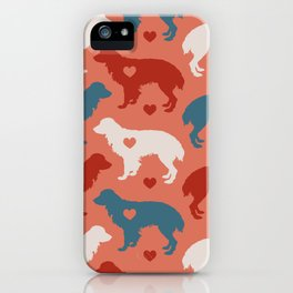 Valentine's dog surface pattern iPhone Case