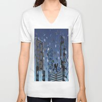 divergent V-neck T-shirts featuring Divergent by Melissa Woodall