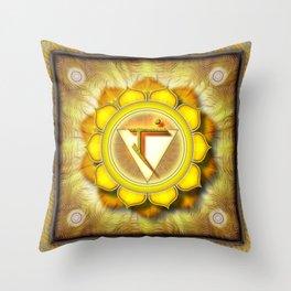 Manipura Chakra - Solar Plexus Chakra - Series I Throw Pillow