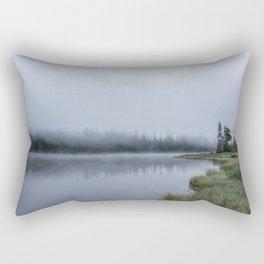 Foggy Morning at Reflection Lake Rectangular Pillow