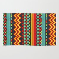 mexico Area & Throw Rugs featuring Mexico by rusanovska