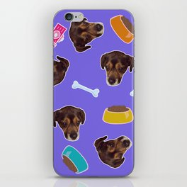 Puppy in the sky with dog bones iPhone Skin