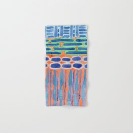 Blue Shapes Pattern Hand & Bath Towel
