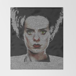 The Bride of Frankenstein Screenplay Print Throw Blanket