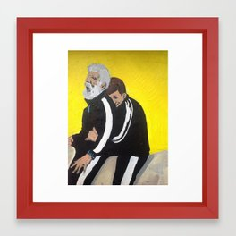 Bernie and Manners Framed Art Print